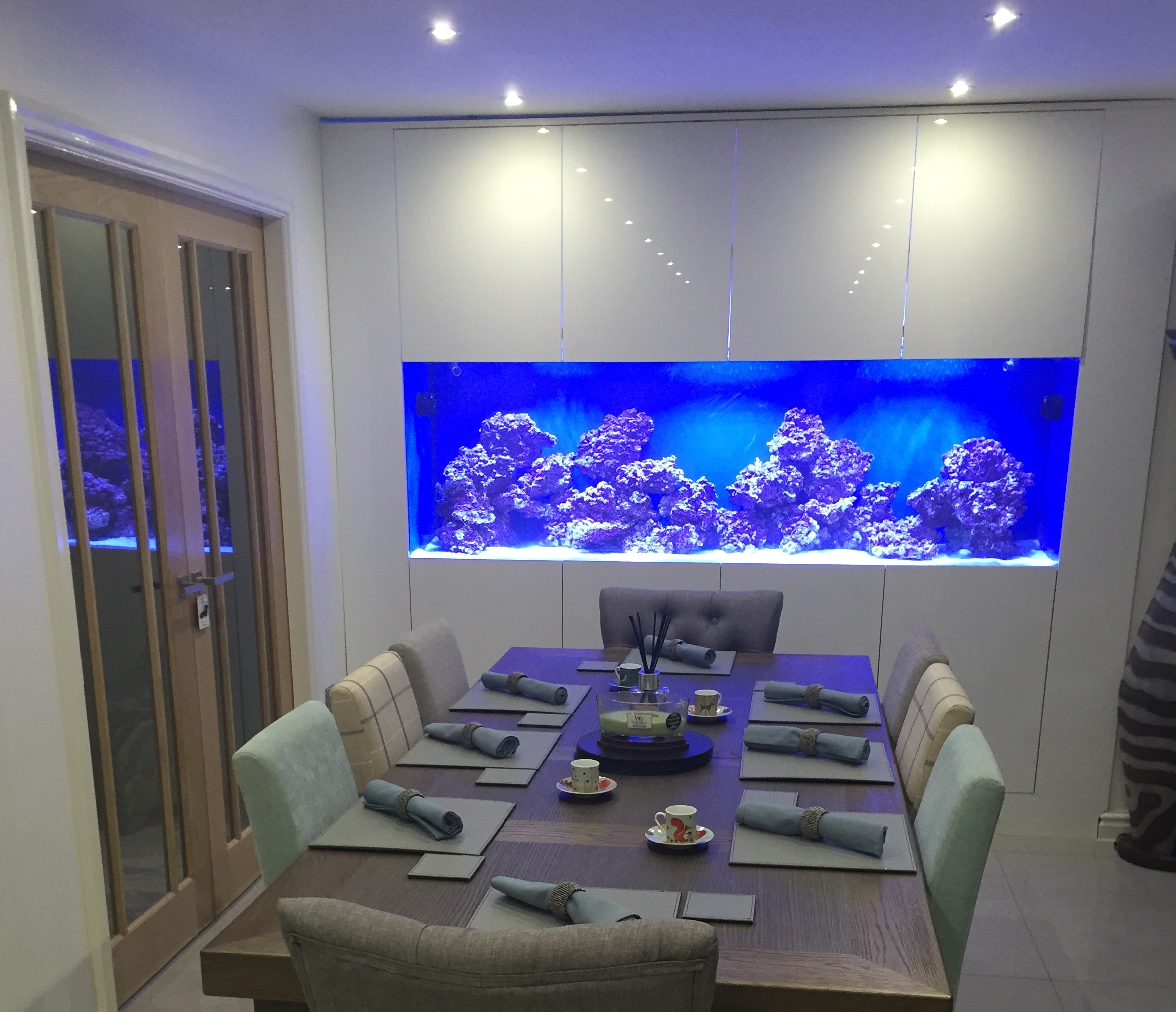 Custom in wall fish tank oceanlife aquatics for Fish tank with built in filter