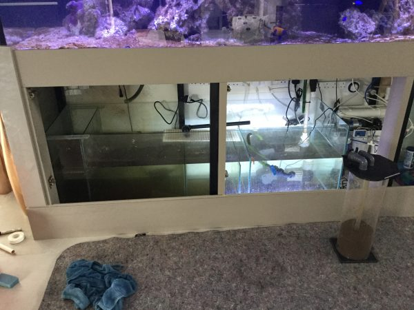 Reef aquarium refurbishment