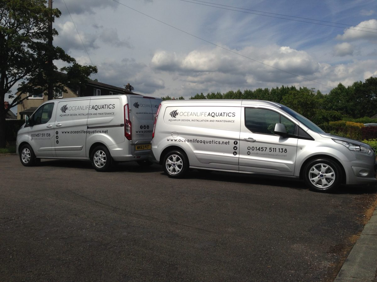 Aquarium Services in our Posh Vans!